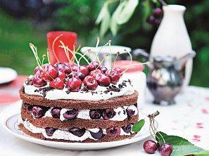 Třešňový dort s mákem