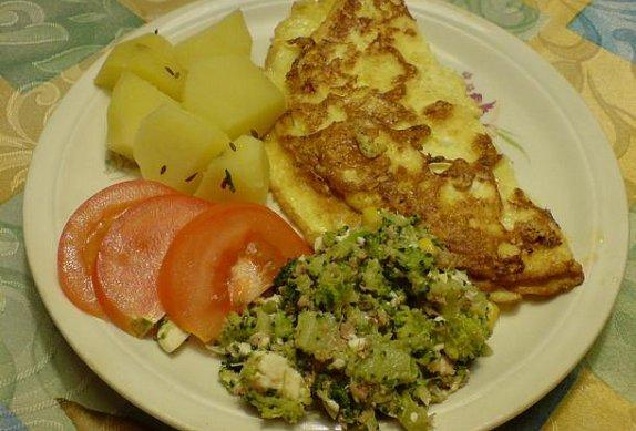 Sýrová omeleta - rychlá