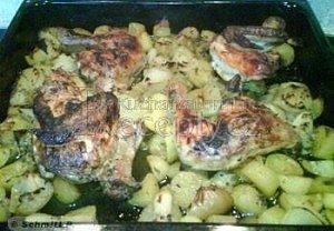 Aténské citronové kuře