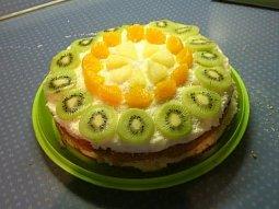 Kokosovo-ananasový dort
