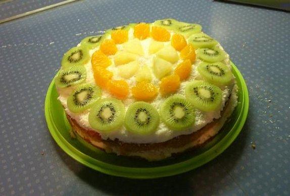 Kokosovo-ananasový dort photo-0