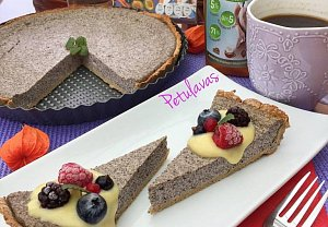 Makový koláč z čekankového sirupu a šmakouna