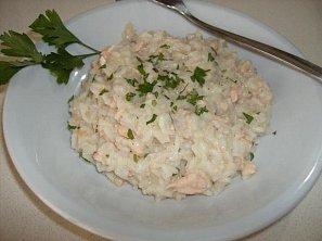 Krémové rizoto s lososem