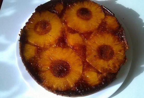 Ananasový koláč naruby photo-0