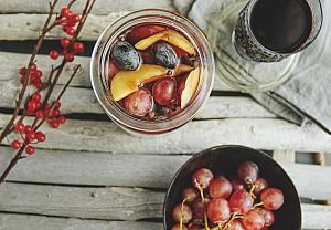 Hroznový kompot s cherry nádechem