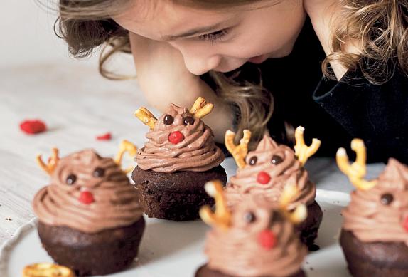 Vánoční muffiny se sobem